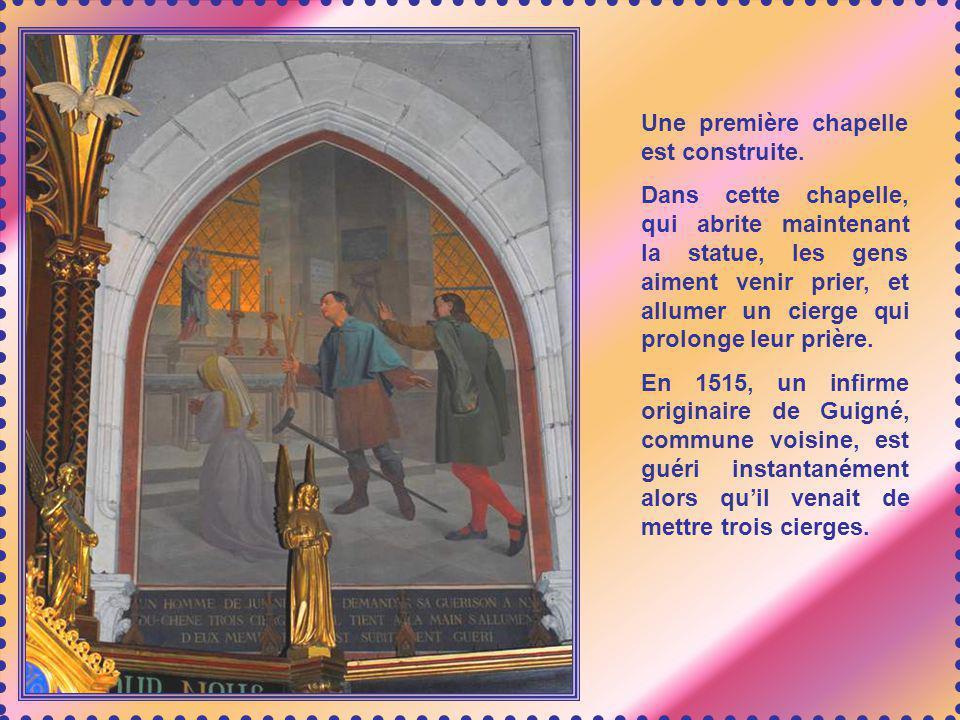 Cette merveilleuse histoire commence en 1494. Le Père James Buret, curé de Vion, est alerté par ses paroissiens qui voient sans cesse des vols inhabit