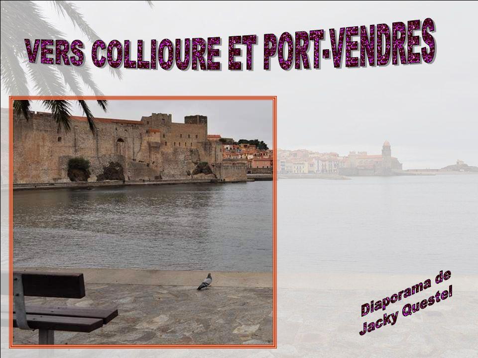 Et nous voici à Port-Vendres, une ville gaie, colorée, où même les églises arborent de chaudes couleurs .