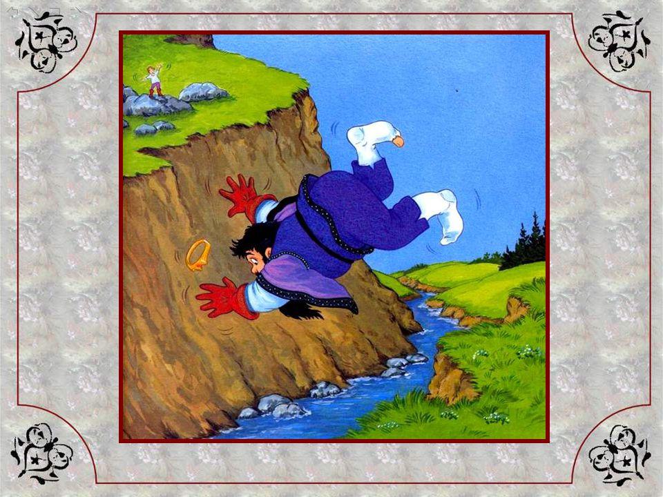 Alors, dun seul pas, dun seul – pensez ! Des bottes de sept lieues – le jeune garçon se retrouve de lautre côté du ruisseau, en haut de la falaise. Et
