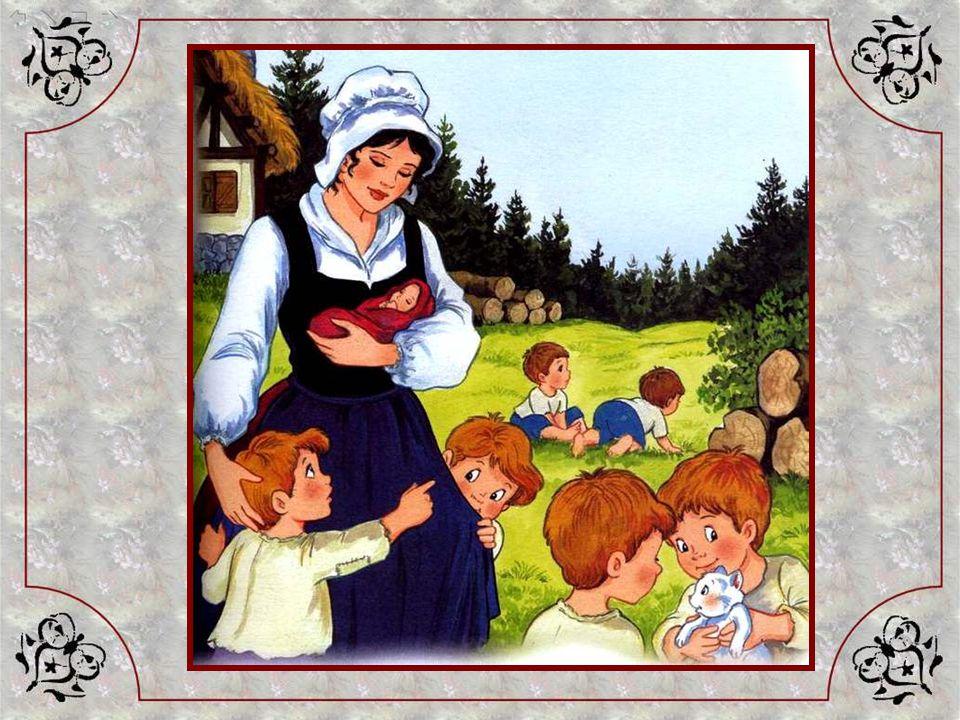 Non loin de la forêt, vivait une grande famille :Léon et Marie avaient sept enfants, sept garçons ! Et le plus jeune était si petit quon lappelait le