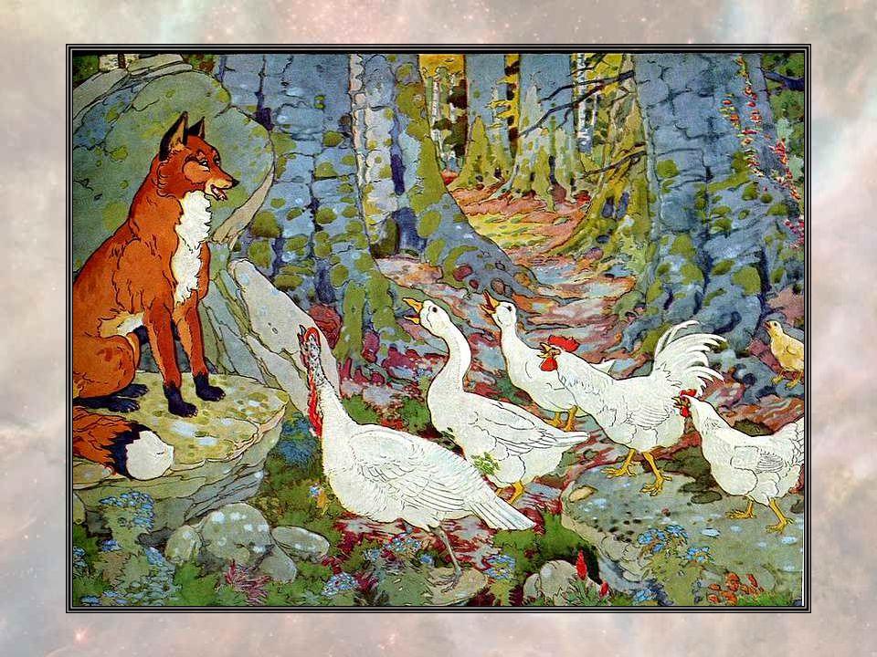 Et ils se remirent en route, jusqu au moment ou Dindon Dandy croisa leur chemin. « Bonjour, Oie Oisive, Canard Canaille, Coq Dutoc, Poule Saoule et Po