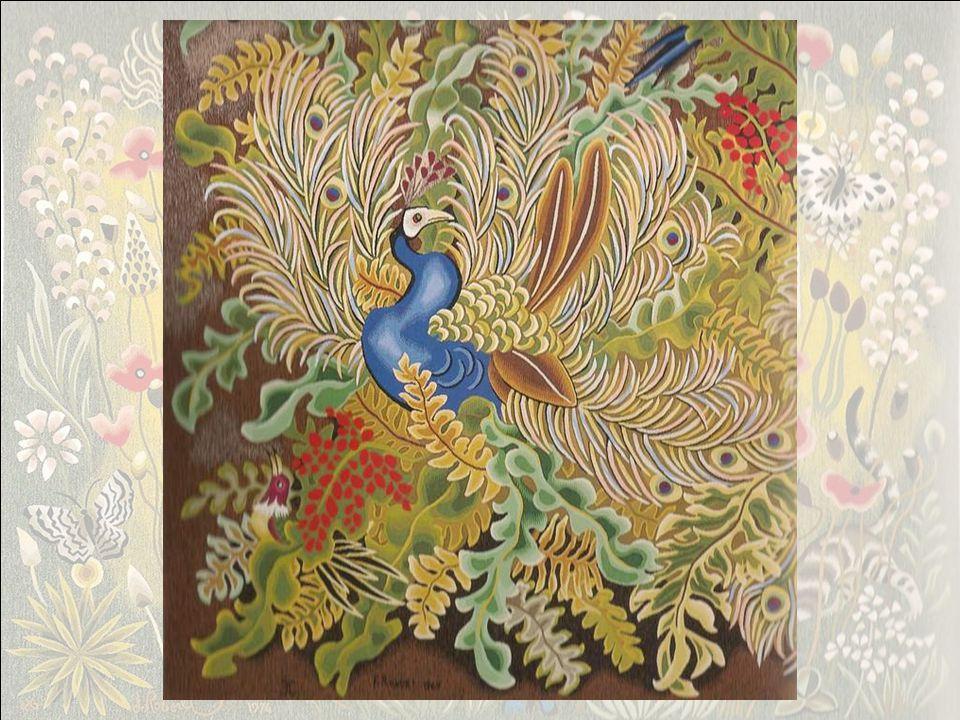Tapisserie, atelier Goubely, Aubusson, 1968, 350x520. La Vie douce ( 1952) et les Enfants de la lumière (1968) présentent la même composition : Dans l