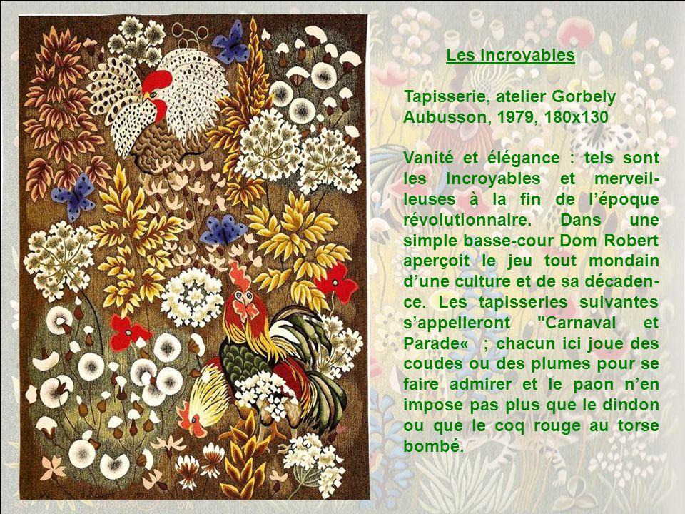 Tapisserie, atelier Goubely Aubusson, 1979, 180x125 En Crouzille est le nom dune ferme proche du monastère au pied de la Montagne Noire, où Dom Robert