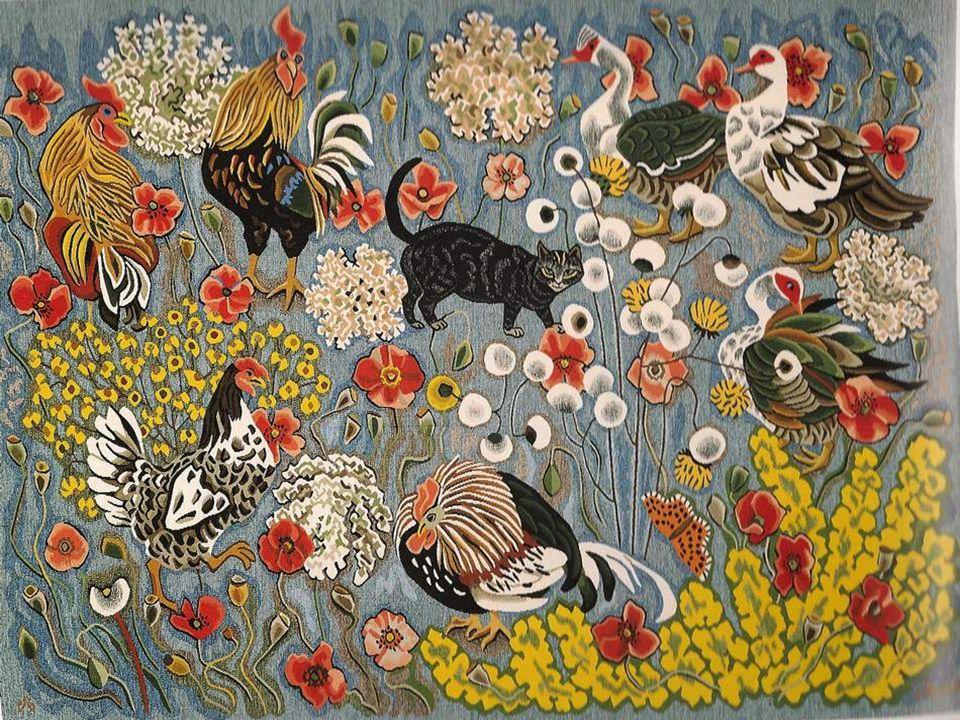 Tapisserie, atelier Goubely Aubusson 1983, 130x175 Après la très riche composition
