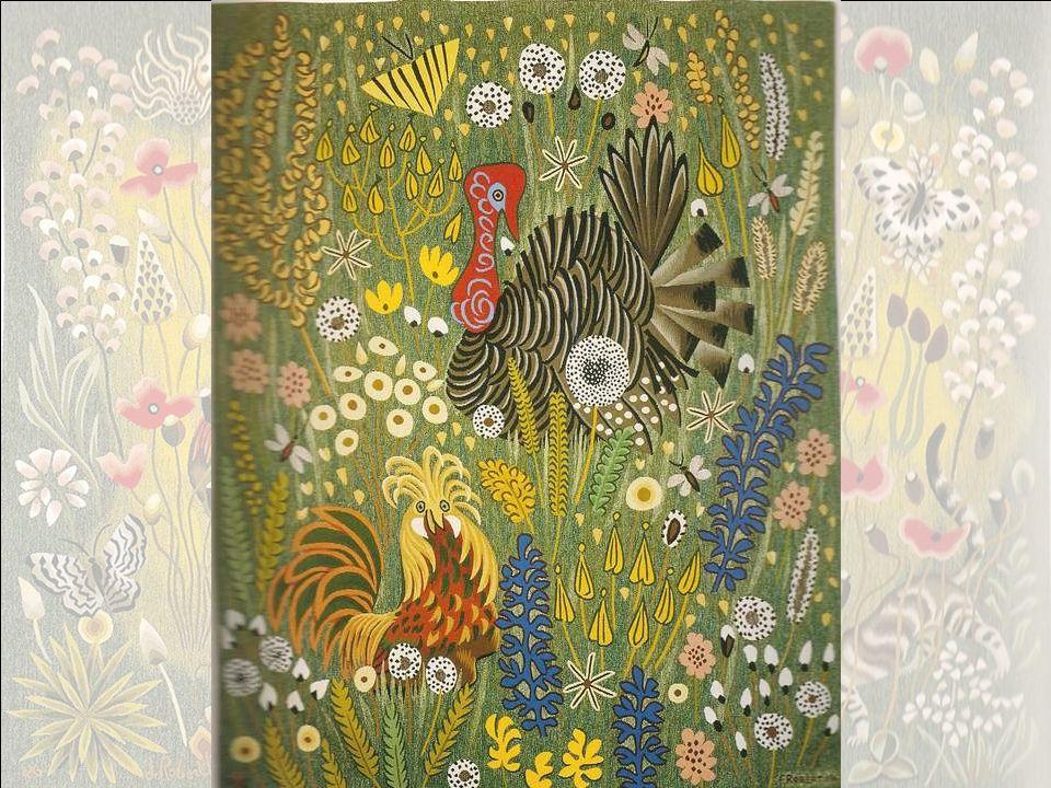 Tapisserie, atelier Goubely, Aubusson 1977,165x285 En ses trois premières tapisseries, lEté, le Printemps, lAutomne, Dom Robert avait défini sa quête