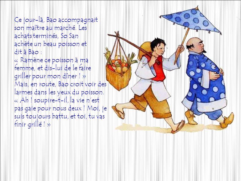 Bao navait pas vraiment de chance : il était serviteur chez So San, un homme riche mais exigeant et ingrat, qui lui donnait plus de coups de bâton que de nourriture.