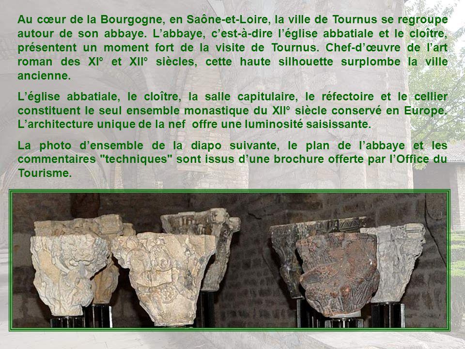 Au cœur de la Bourgogne, en Saône-et-Loire, la ville de Tournus se regroupe autour de son abbaye.
