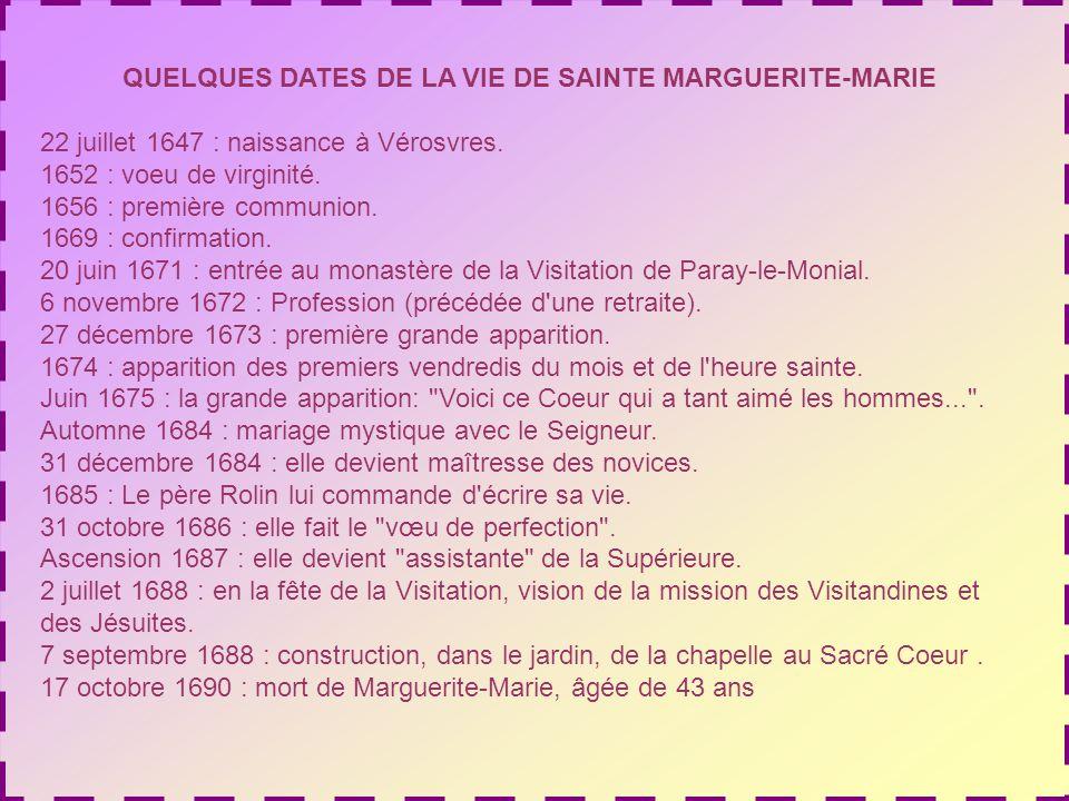 Nous voilà revenus à Paray-le- Monial, mais cette fois pour suivre les pas de Marguerite- Marie, qui a reçu la révélation des trésors damour que veut répandre sur nous le Cœur de Jésus.