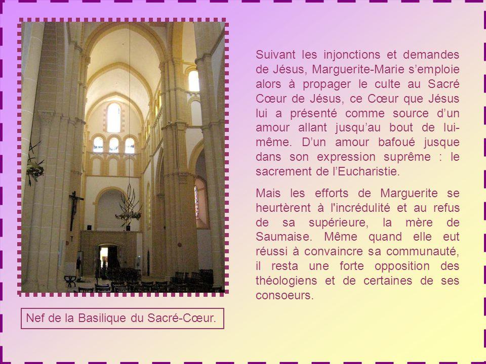 Tableau se trouvant au monastère de la Visitation à Paray-le-Monial.