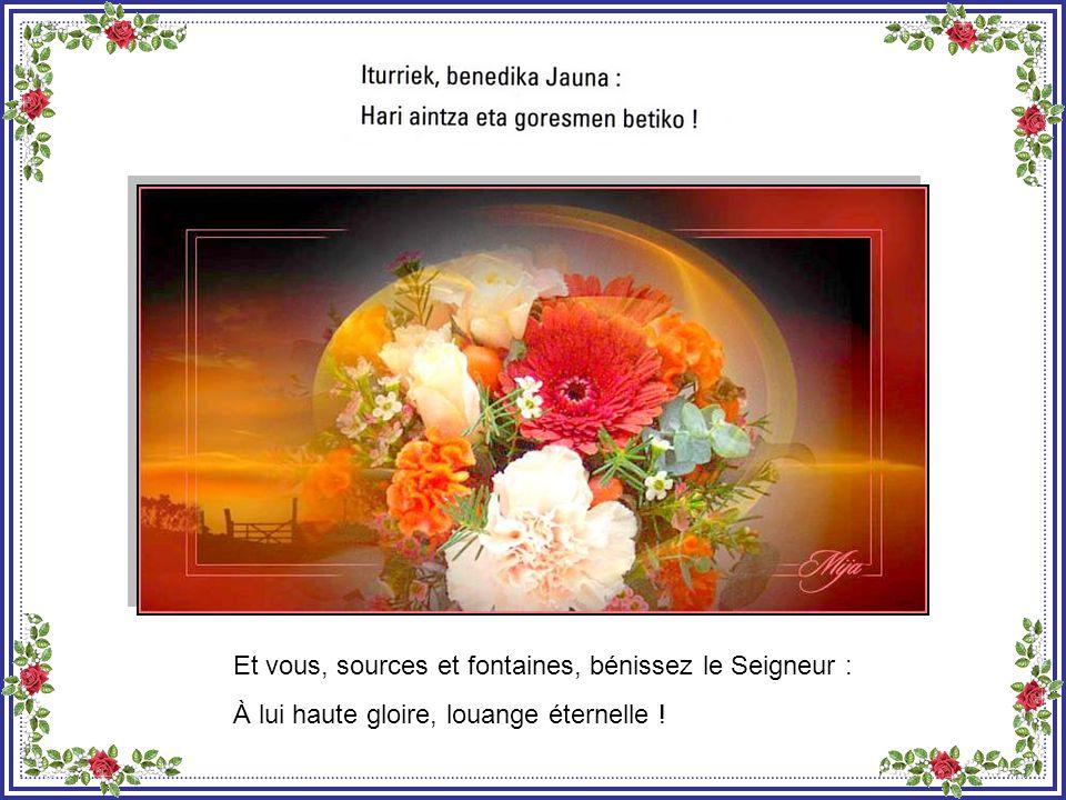 Que la terre bénisse le Seigneur : À lui haute gloire, louange éternelle !