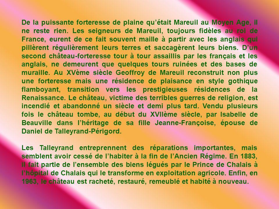 De la puissante forteresse de plaine quétait Mareuil au Moyen Age, il ne reste rien.
