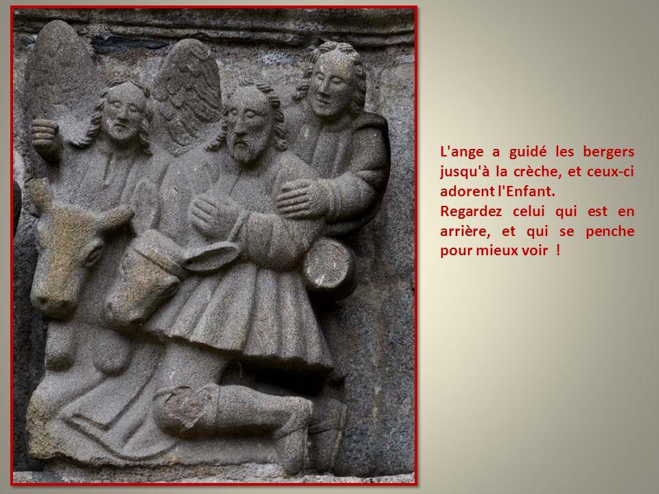 La naissance. Marie, émerveillée comme toutes les mamans, Joseph dubitatif, et qui semble avoir plutôt envie de se reposer !