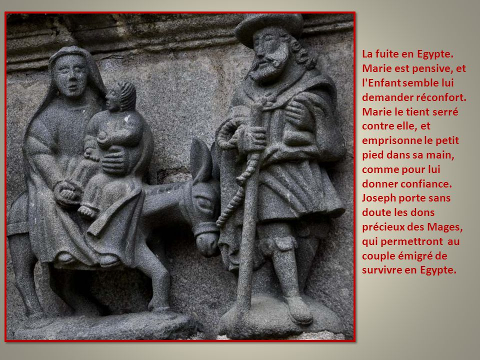 La Présentation de Jésus au Temple. Je suppose que c'est Syméon qui tient l'Enfant, et la prêtresse Anne qui est à genoux. Marie porte la cage avec le