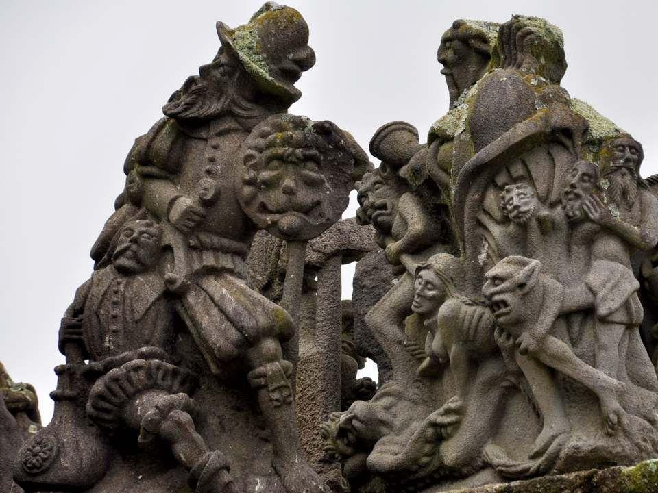 Tout à fait arbitrairement, et pour faire la séparation entre la naissance du Christ et sa crucifixion, je place ici deux scènes issues du folklore ou