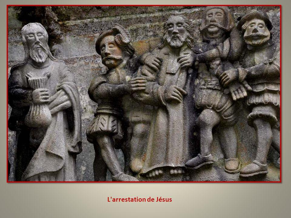 Je suppose que cette scène représente Saint Pierre tranchant l'oreille de Malchus.