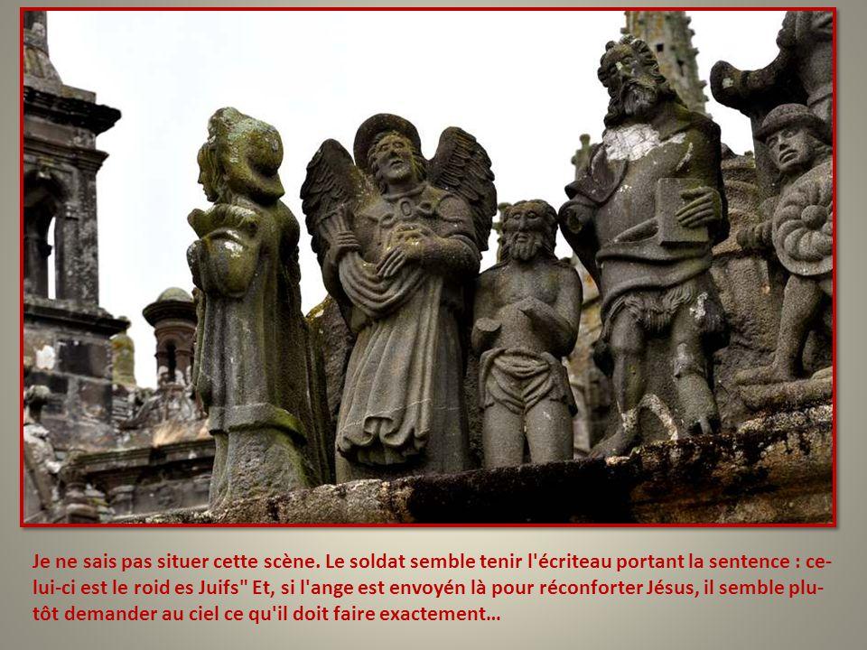 Sainte Véronique, qui a essuyé le visage de Jésus, trouve l'empreinte de ce visage sur le linge.