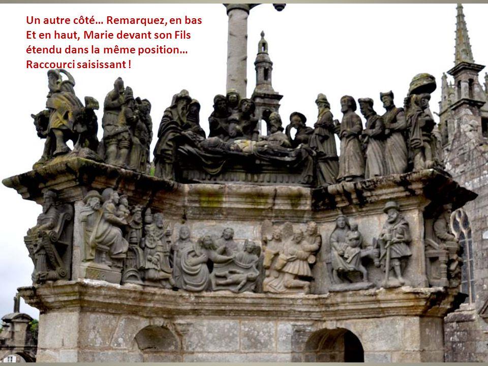 Un autre côté… Remarquez, en bas Et en haut, Marie devant son Fils étendu dans la même position… Raccourci saisissant !