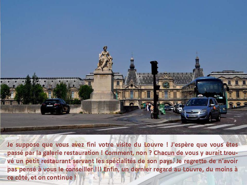 Je suppose que vous avez fini votre visite du Louvre .