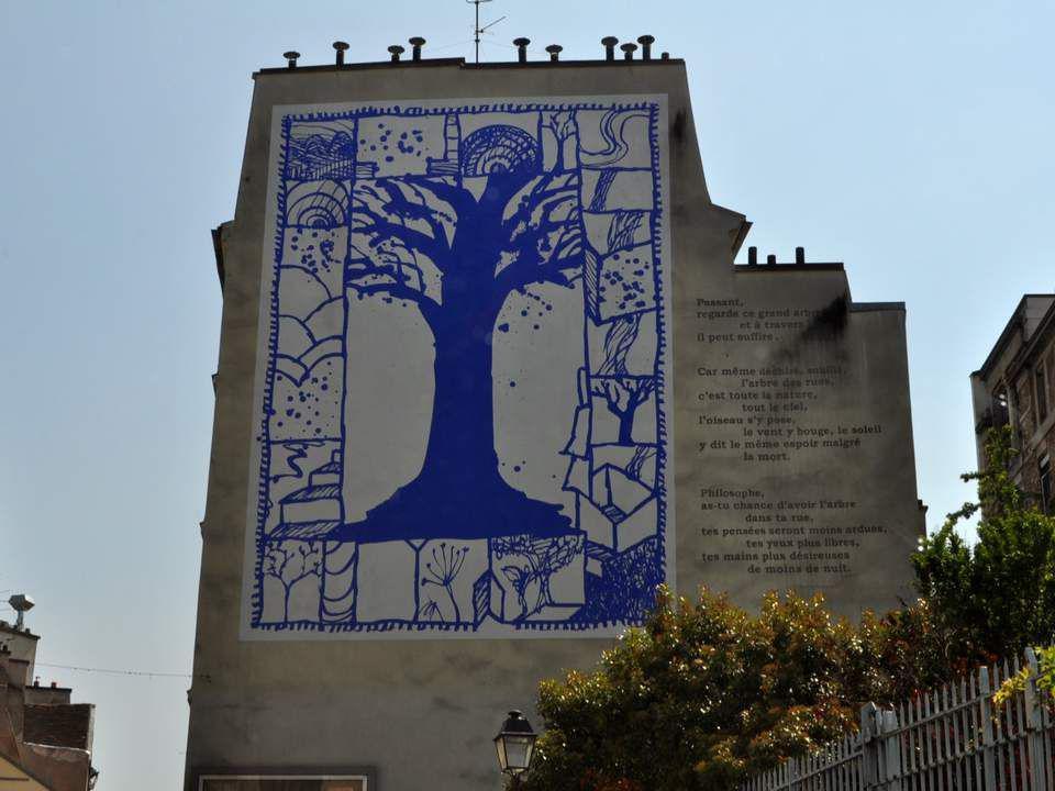 L ARBRE DES RUES Une peinture murale de Pierre Alechinsky - Rue René Descartes Cette peinture évoque la nécessité de préserver la nature.