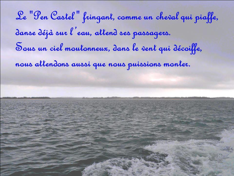Le Pen Castel fringant, comme un cheval qui piaffe, danse déjà sur leau, attend ses passagers.