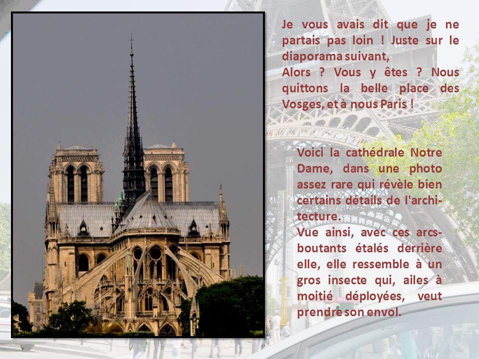 Voici la cathédrale Notre Dame, dans une photo assez rare qui révèle bien certains détails de l archi- tecture.