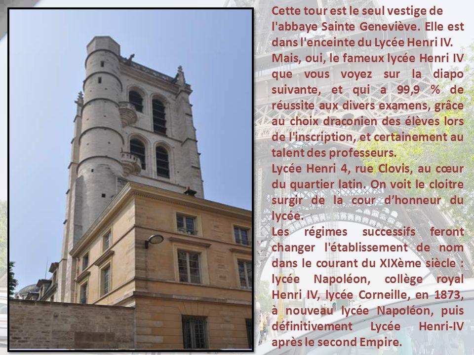 Cette tour est le seul vestige de l abbaye Sainte Geneviève.