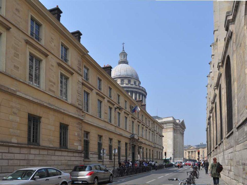 Cette tour est le seul vestige de l'abbaye Sainte Geneviève. Elle est dans l'enceinte du Lycée Henri IV. Mais, oui, le fameux lycée Henri IV que vous