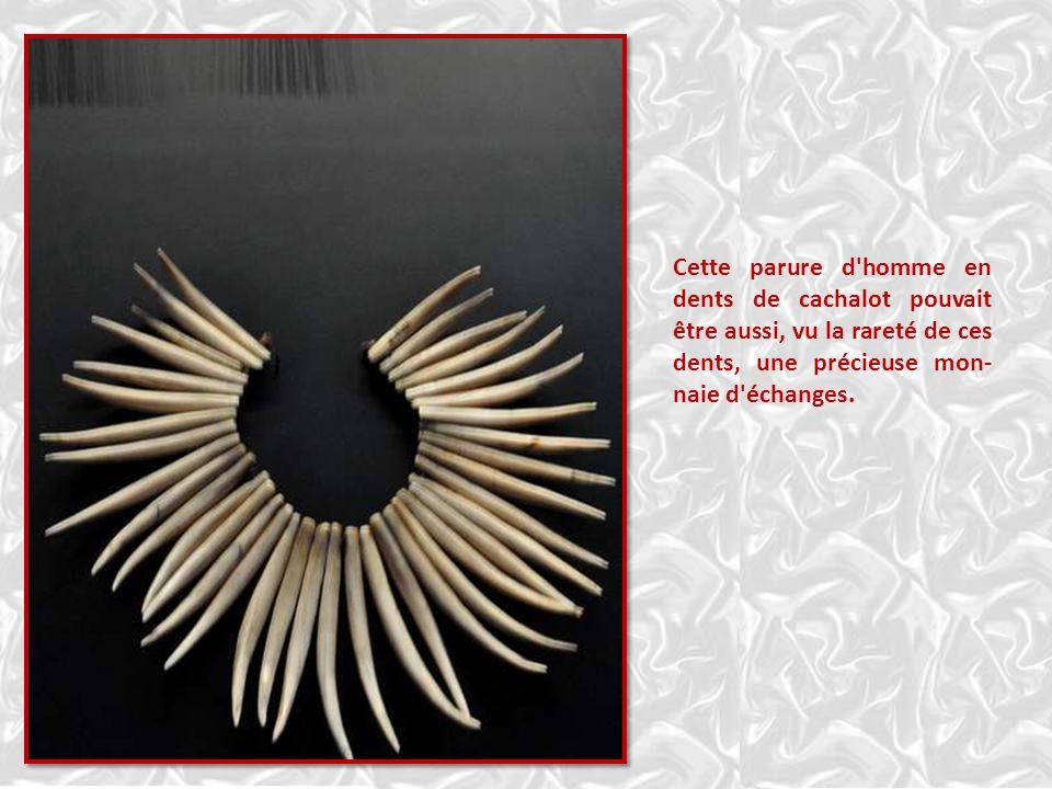 Îles Marquises ORNEMENTS EN CHEVEUX Les plumets de barbe d'Ancien, ornements de coiffe ou de doigt, étaient parmi les plus précieux des objets. Les pa