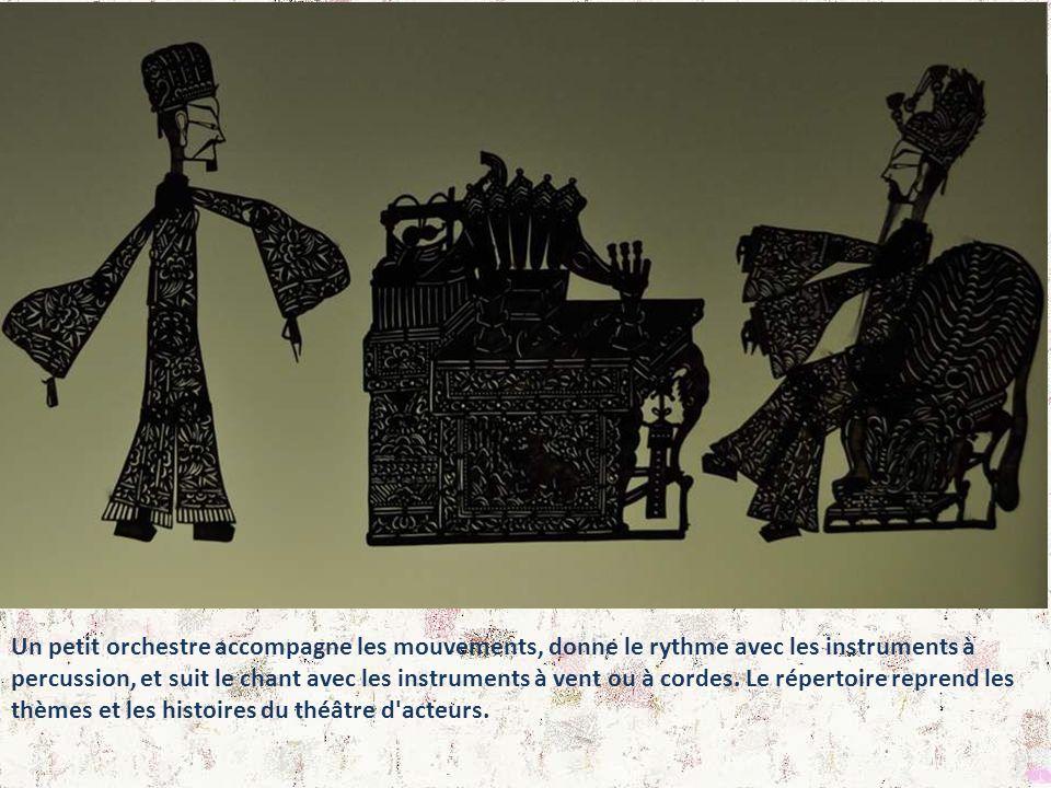 Théâtre d'ombres du Hebeï : Ces figures en peau d'âne sont caractéristiques du Hebeï, centre important du théâtre d'ombres. La plupart des personnages