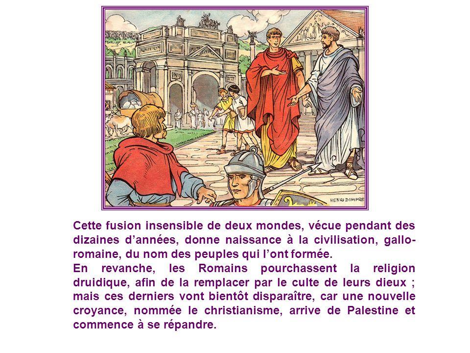 En 52 avant Jésus-Christ, Vercingétorix remporte la victoire de Gergo- vie sur le chef romain Jules César, mais il est vaincu à Alésia. La Gaule est o
