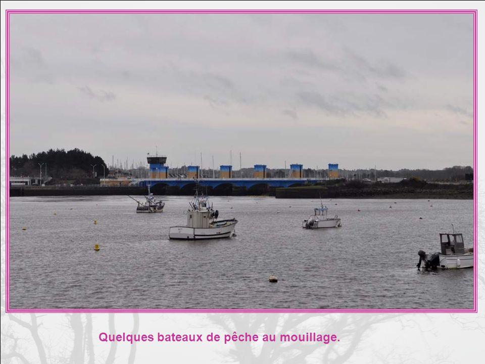 Une autre vue du barrage. Il ny a pas que des petits voiliers !