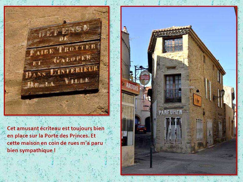 A Courthezon, la Porte des Princes, et une belle fontaine.