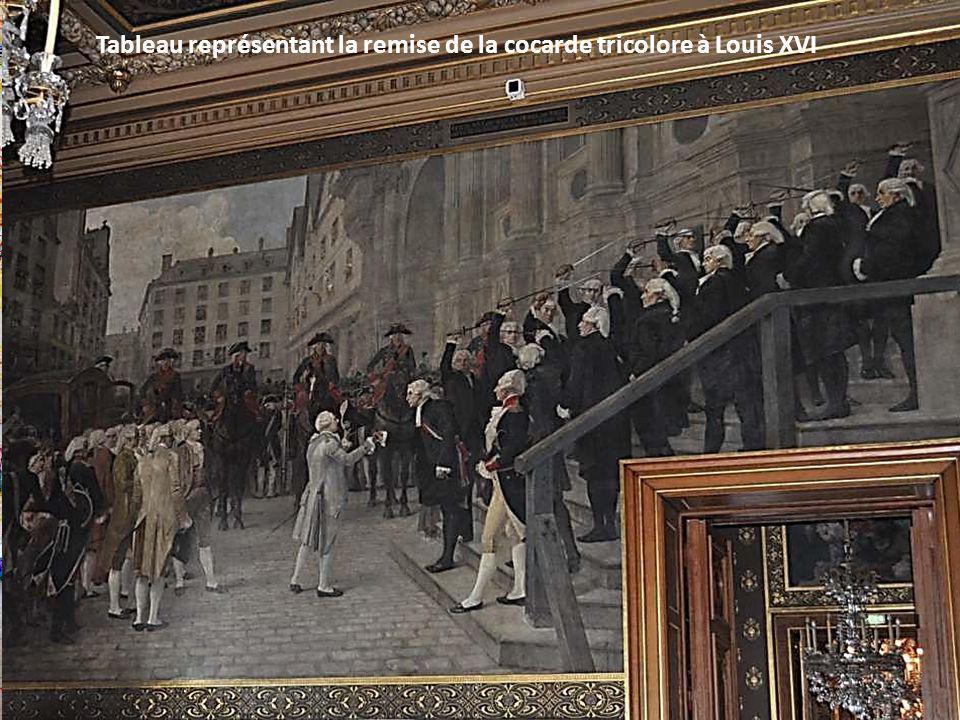 Tableau de Francis TATTEGRAIN - Entrée de Louis XI à Paris – 3O août 1461 … et regarda moult les serrainnes (sirènes) du ponceau Saint-Denis ; car là