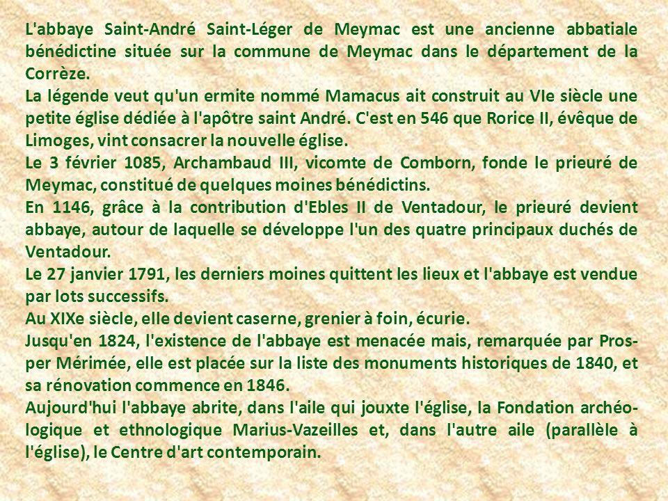 L abbatiale Saint André, telle qu elle se présente aujourd hui.