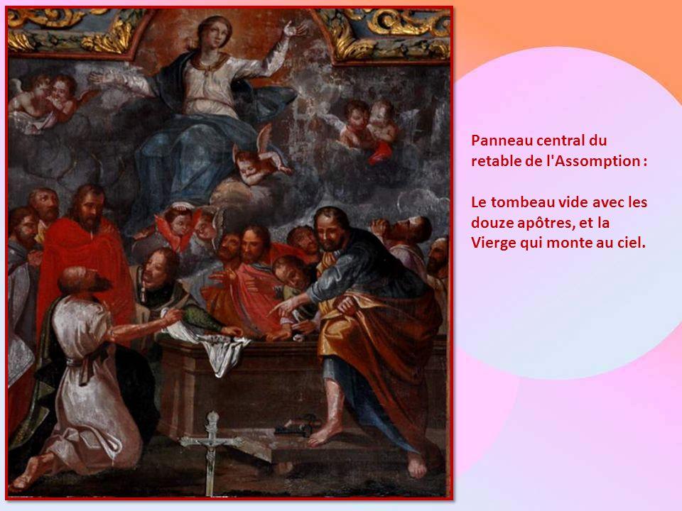 Sur la page suivante : Le retable de saint Hervé : Il occupe le transept Sud. Le tableau central représente saint Hervé, aveugle, conduit par son guid