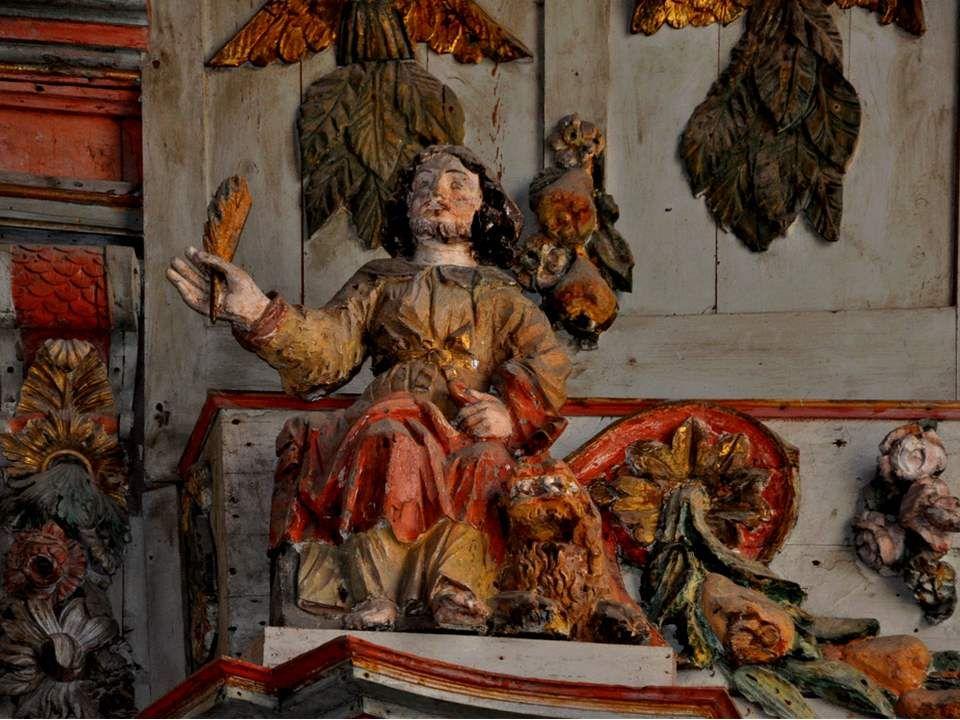 Ci-après, les 4 évangélistes, chacun avec son animal symbolique. A vous de les identifier ! Pour vous aider dans ce jeu de piste, le renseignement ci-