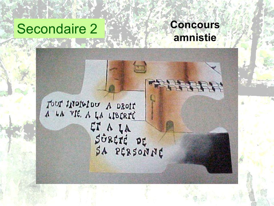 Secondaire 2 Concours amnistie