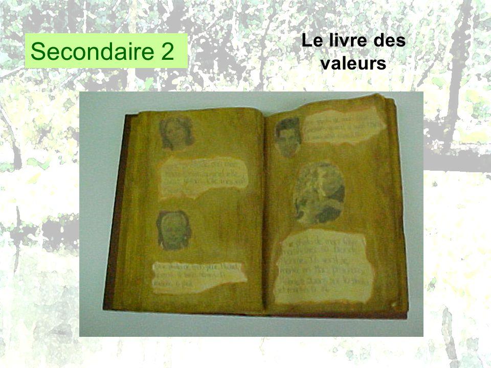 Secondaire 2 Le livre des valeurs