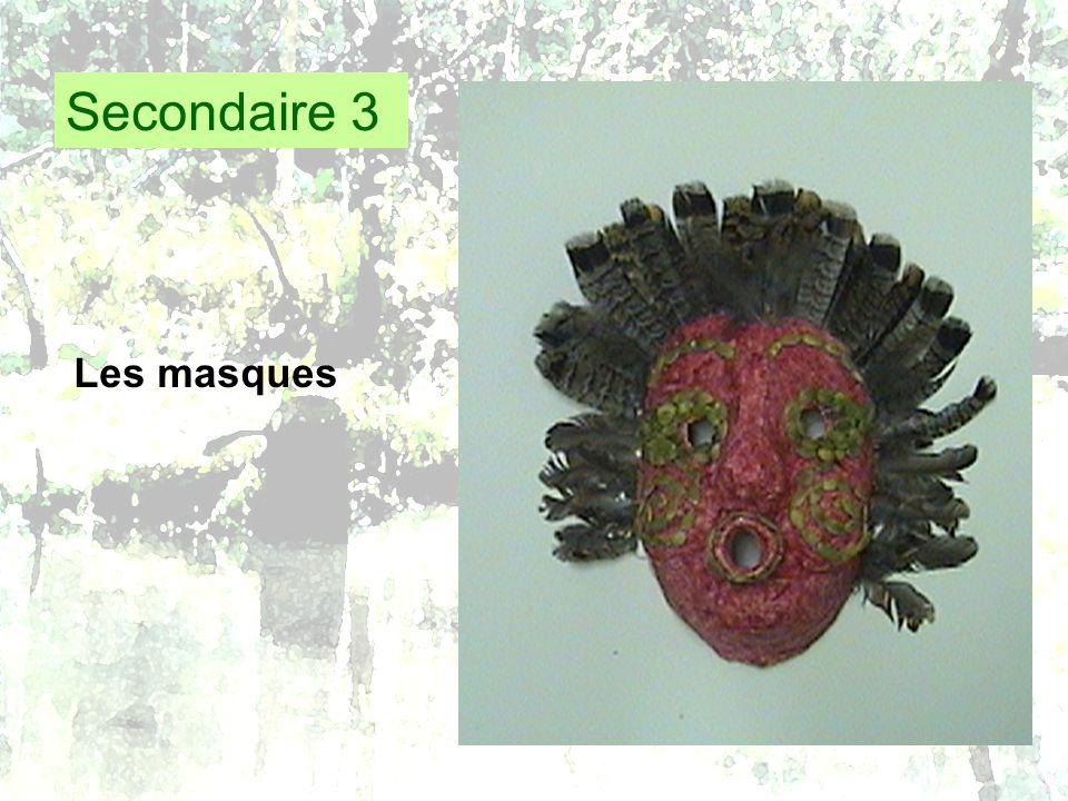Secondaire 3 Les masques