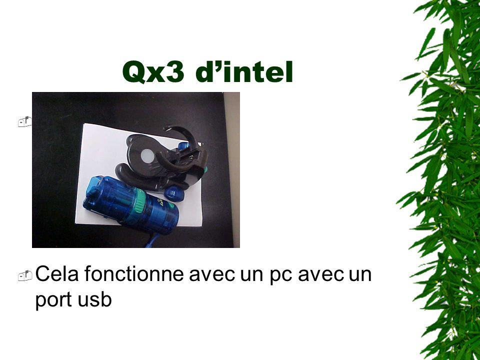 Qx3 dintel Photo2 Cela fonctionne avec un pc avec un port usb