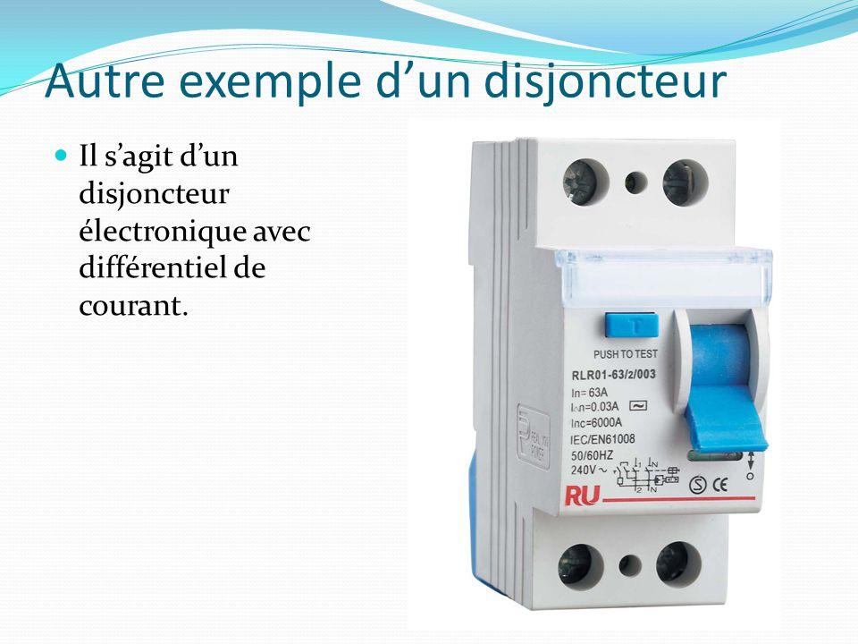 Autre exemple dun disjoncteur Il sagit dun disjoncteur électronique avec différentiel de courant.