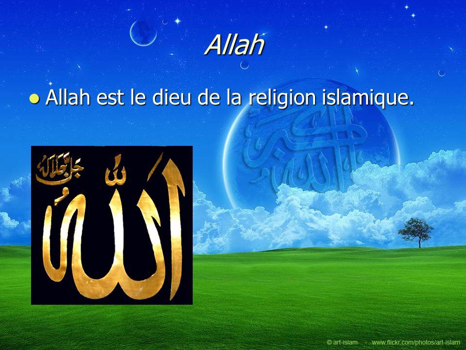 Allah Allah est le dieu de la religion islamique. Allah est le dieu de la religion islamique.