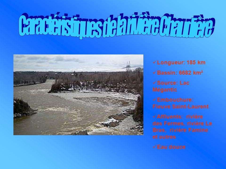 Longueur: 185 km Bassin: 6682 km² Source: Lac Mégantic Embouchure: Fleuve Saint-Laurent Affluents: rivière des Fermes, rivière Le Bras, rivière Famine