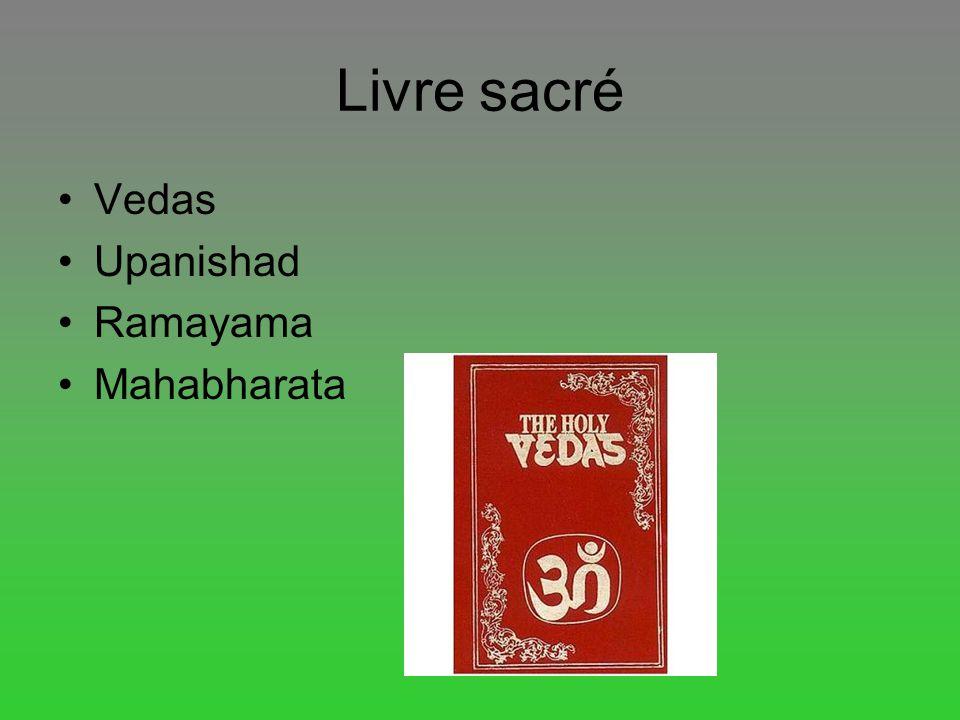 Livre sacré Vedas Upanishad Ramayama Mahabharata