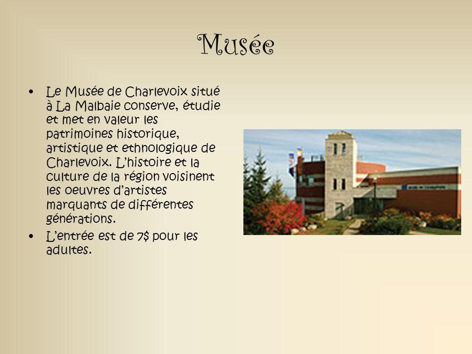 Musée Le Musée de Charlevoix situé à La Malbaie conserve, étudie et met en valeur les patrimoines historique, artistique et ethnologique de Charlevoix