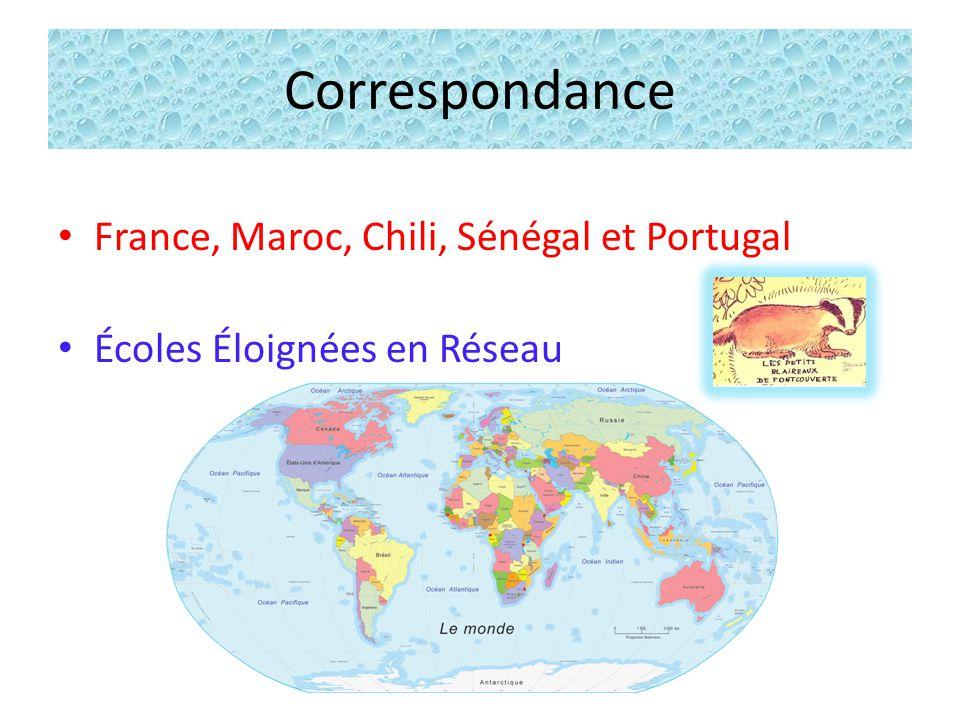 Correspondance France, Maroc, Chili, Sénégal et Portugal Écoles Éloignées en Réseau