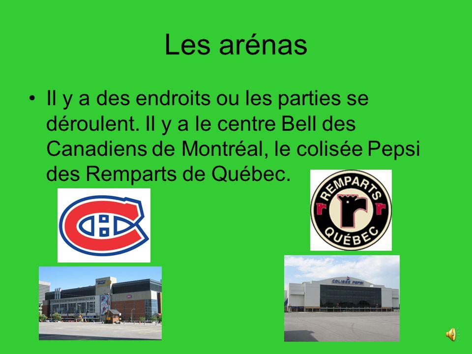 Les arénas Il y a des endroits ou les parties se déroulent.