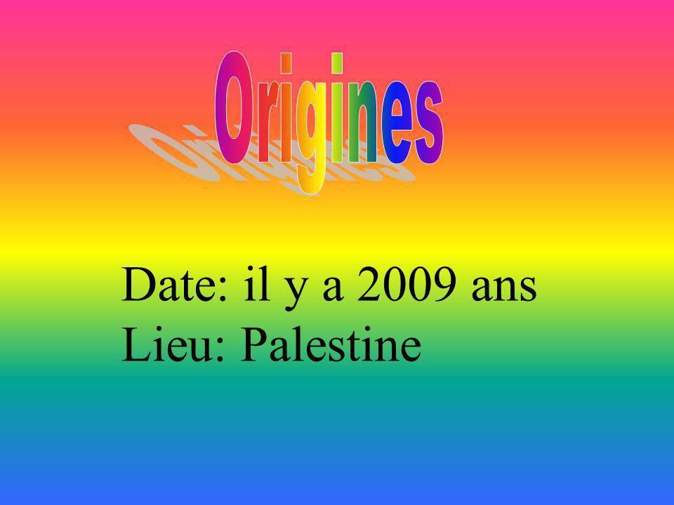 Date: il y a 2009 ans Lieu: Palestine