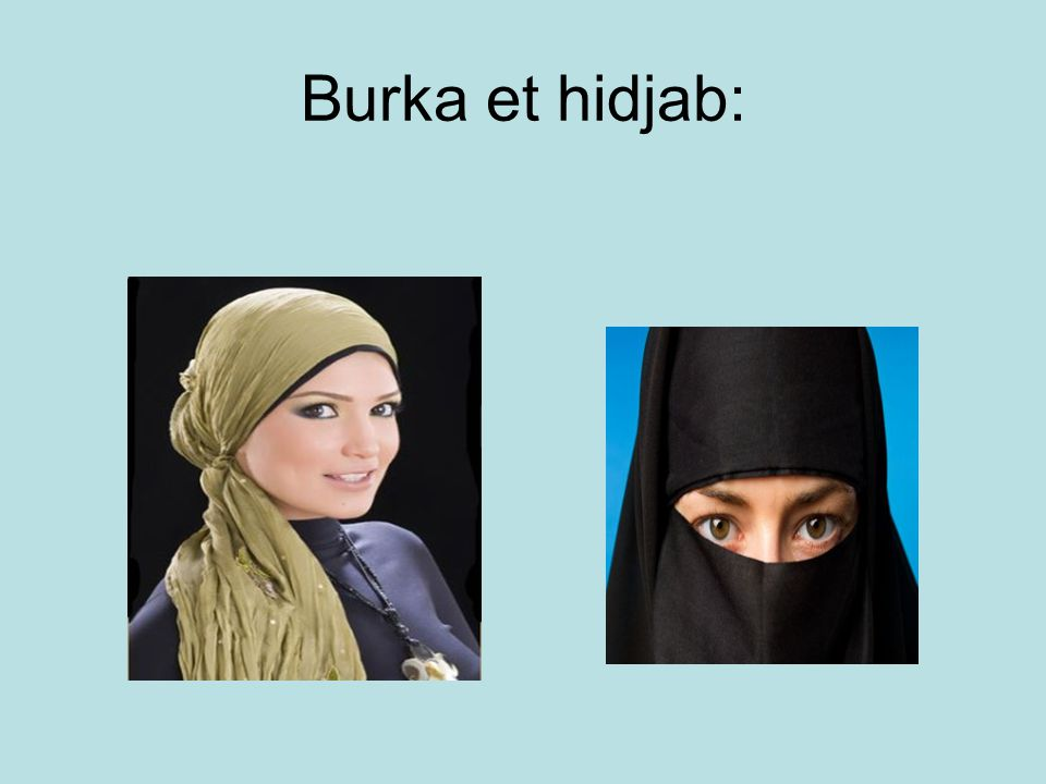 Burka et hidjab: