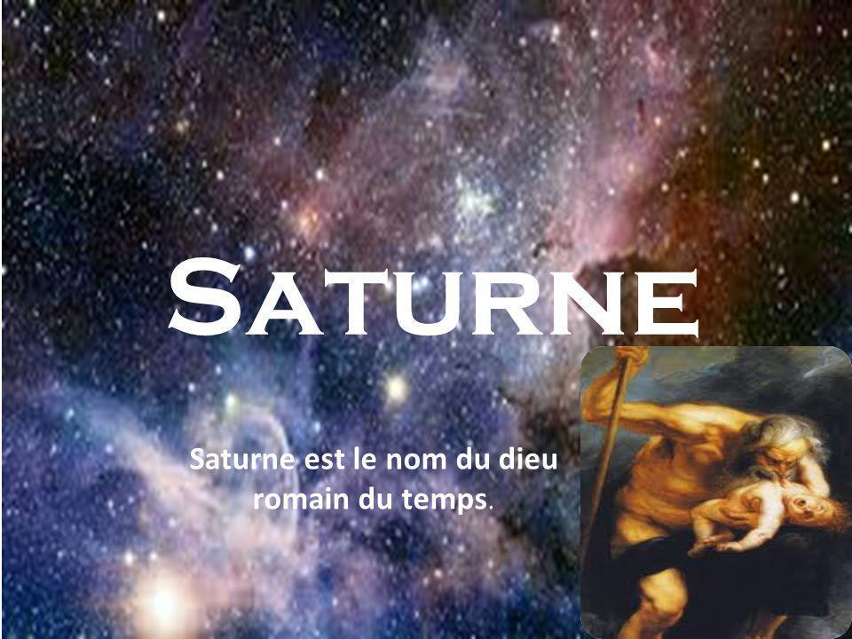 Saturne Saturne est le nom du dieu romain du temps.